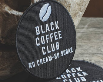 "Black Coffee Club patch - 3""x3"""