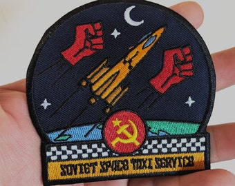 Soviet Space Taxi Service patch - Iron on -