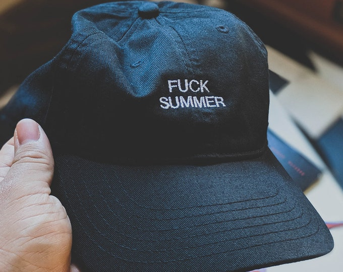 Featured listing image: F#%K SUMMER (Dad hat/baseball cap)