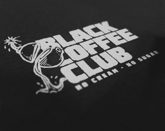 Black Coffee Club (long sleeve crew neck sweater)