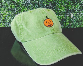 Classic Pumpkin hat retro faded green
