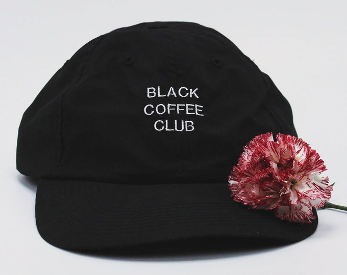 Featured listing image: Black Coffee Club (old school hat style)
