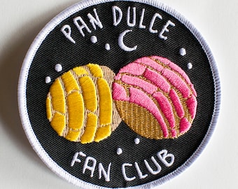 "Pan Dulce Fan Club Patch - Mexican sweet bread - 3""x3"""