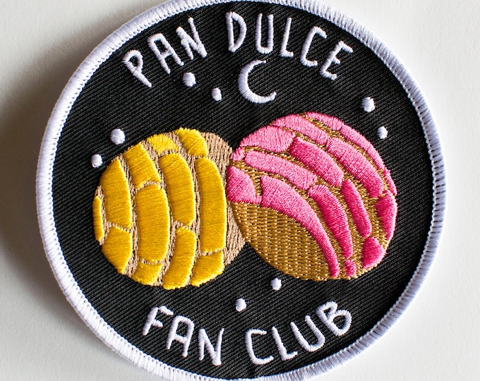 "Featured listing image: Pan Dulce Fan Club Patch - Mexican sweet bread - 3""x3"""