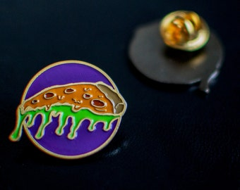 "Pizza Slime pin  1"" (2.54 cm)"