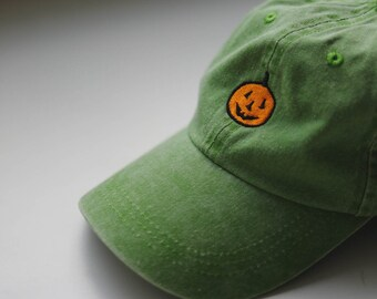 Classic Pumpkin hat retro faded green