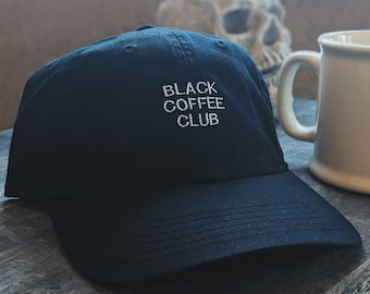 Black Coffee Club (Dad hat style) (+ free shop sticker)