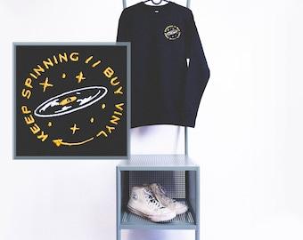 Keep Spinning // Buy Vinyl unisex crewneck sweater