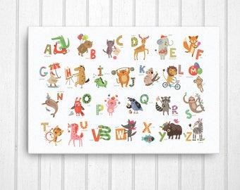 nursery canvas art etsy