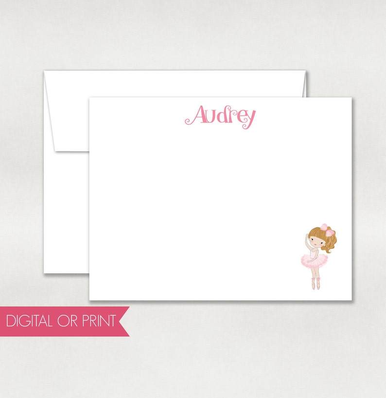 picture relating to Note Cards Printable referred to as Ballerina Thank Oneself, Ballerina Be aware Card, Released Flat Observe Card, Printable Be aware Card, Tailor made Take note Card, Again Style Integrated