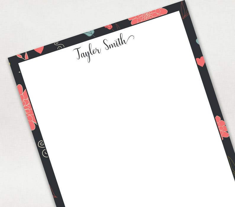 Gift for Teacher Custom NotePad Personalized Stationery Hostess Gift Writing Pad 5.5x8.5 NotePad Personalized NotePad Gift for Mom