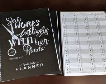 2019 Hairstylist Day Planner | Proverbs | Weekly | 13 months Jan '19 - Jan '20 | Appointment Book | Scheduling | Salon | Dated Weekly | Gift
