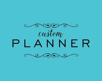 CUSTOM PLANNER 2018-2019 | work from home mom |  military wife, direct sales, special needs, consultant, blogger, writer | 52 weeks, UNDATED