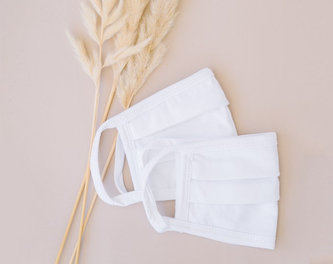 White 100% Cotton Face Mask  (100 Pack)