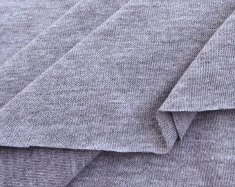 Heather Grey Jersey (Medium Weight)