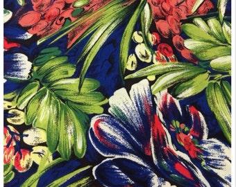 100% Floral Printed Rayon Challis