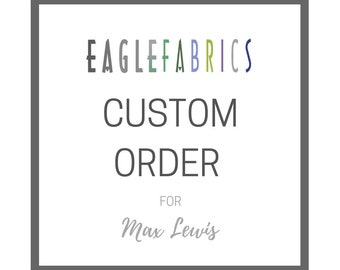 Custom Order for Max Lewis - 2 yds ea of 4001CS in wst-amts-s-grsr | pple-brby-cob | capr-wsbi-aquar plus International Shipping