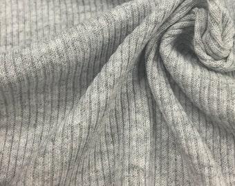 2x1 Poly Cotton Rib with Stretch