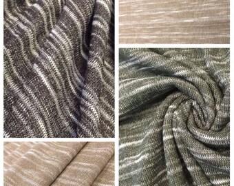 Sweater Knit Slub Jersey with Spandex