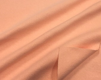 100% Cotton Interlock Knit Fabric (Wholesale Price Available By The Bolt) USA Made Premium Quality - 7207 Peach - 1 Yard