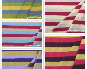 100% Cotton Stripe 1x1 Rib