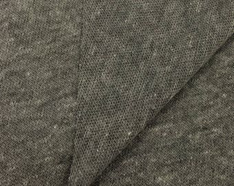 Soft and Stretchy Loose Stitch Jersey Knit Fabric FULL ROLL DISCOUNT (avg 60 yards per roll) Made in U.S.A 5559PCRH Heather Grey