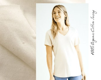 100 % Organic Cotton Jersey (T-shirt Weight)
