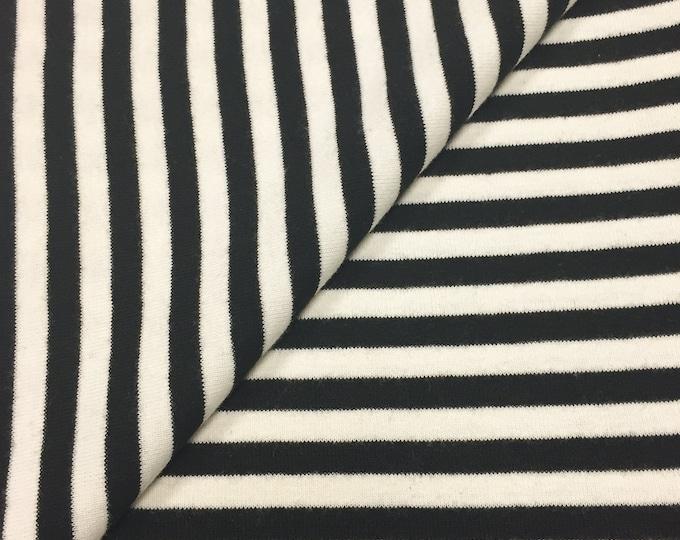 """100% Cotton 1/4"""" Stripe 1x1 Rib"""