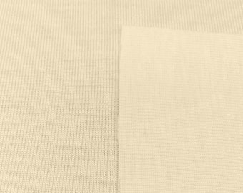 100% Organic Cotton 1x1 Rib Trim