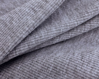 2x1 Heather Grey Cotton Rib