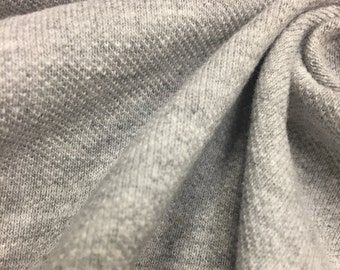 Heather Grey Cotton Pique