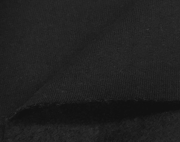 Cotton/Poly Black Fleece