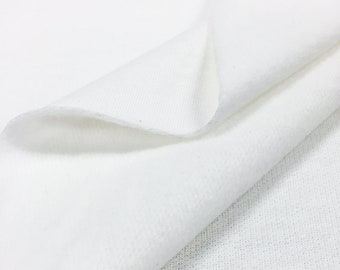 100% Cotton White Fleece