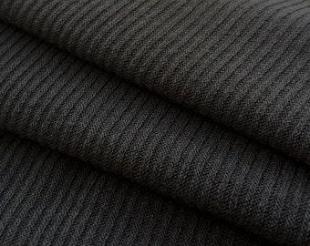 2x2 Poly/Rayon Rib- Charcoal