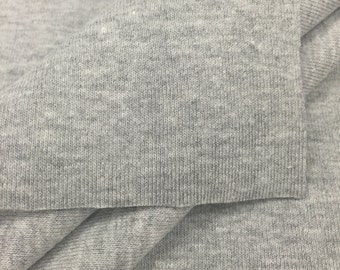 1x1 Heather Grey Rayon Stretch Rib