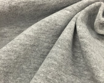 1x1 Heather Grey Cotton Stretch Rib