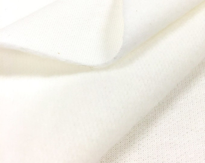 100% Cotton Fleece Fabric By the Yard (Wholesale Price Available By the Bolt) USA Made Premium Quality - 6015C5F PFD Non Optic - 1 Yard