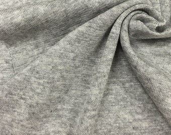 Cotton/Poly Heather Grey Jersey (Heavy weight)