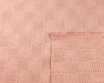100% Cotton Rose Novelty Knit Fabric (Wholesale Price Available By the Bolt) USA Made Premium Quality - 4019B - 1 Yard