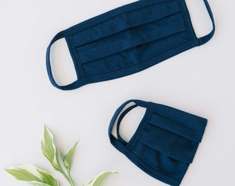 Navy 100% Cotton Mask  (5 Pack)