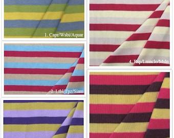 100% Cotton Stripe 1x1 Rib