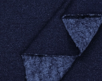 100% Indigo Yarn-Dyed Cotton Fleece