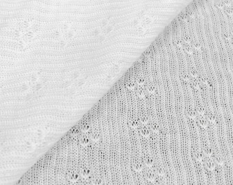 100% Cotton Sheer Pointelle