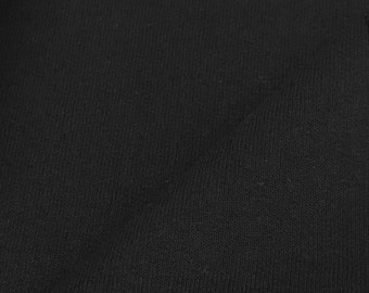 Heavy Cotton/Poly Black Fleece