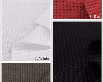 Poly Cotton Thermal Knit