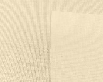 100% Organic Cotton 1x1 Rib Trim