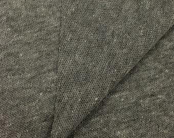 Heather Grey Triblend Sweater Knit
