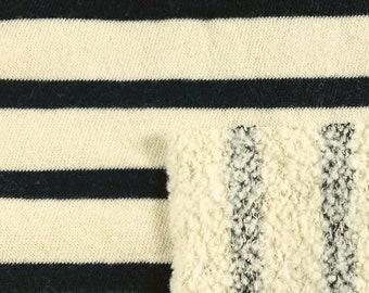 Cotton Poly Stripe Fleece