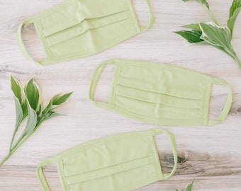 Lime 100% Cotton Face Mask  (100 Pack)