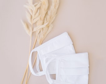 White 100% Cotton Face Mask  (600 Pack)